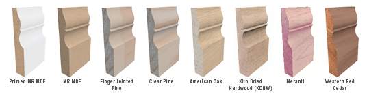 Skirting Board Architrave Materials Timbers